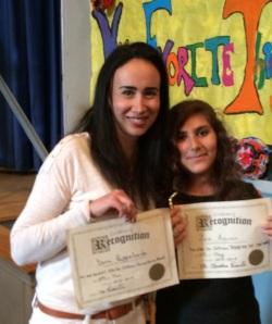 Dora Pappalardo receives The Kids for Coltrane Nat Hentoff Humanitarian Award, Zina Aminov receives The Kids for Coltrane Reach for the Stars Award